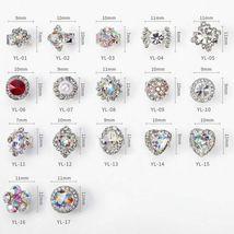 5 pcs Nail Art 3D Crystal Charm Spinner Rhinestone Glitter Manicure DIY Decor image 9