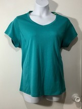 Made for Life Women's Size 1X Teal V neck Short Sleeve Activewear Comfor... - $18.29