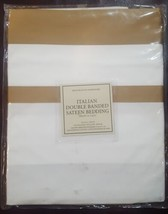 "NWT  Restoration Hardware ""Italian Double Banded "" Caramel Standard Pillow Sham  - $25.69"