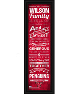 "Personalized Youngstown State ""Penguins"" 24x8 Family Cheer Framed Print - $39.95"