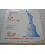 1986 NY State Schoool Music Associatino All-State Concert - Double LP - $9.50