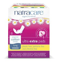 Natracare Ultra Extra Pads with Wings, Long, 8 Count image 1
