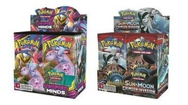 Pokemon TCG Sun & Moon Unified Minds + Cirmson Invasion Booster Box Bundle - $209.99