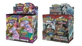 Pokemon TCG Sun & Moon Unified Minds + Cirmson Invasion Booster Box Bundle image 1