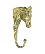 Brass 3 D Horse Head Hook Bridle Rack Towel Coat - Stable Barn Home Equi... - $18.00