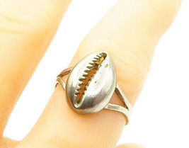 925 Sterling Silver - Vintage Seashell Split Shank Band Ring Sz 10 - R13632 - $25.07