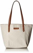 "Brand New Vera Bradley Preppy Poly Ella Tote In Sand Large 20"" By 14"" - $84.15"
