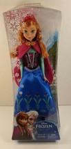 "New Disney Frozen Sparkle ANNA  Doll 12"" Classic Mattel Retired 2013 Age... - $23.75"