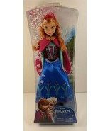 "New Disney Frozen Sparkle ANNA  Doll 12"" Classic Mattel Retired 2013 Age... - $23.75"