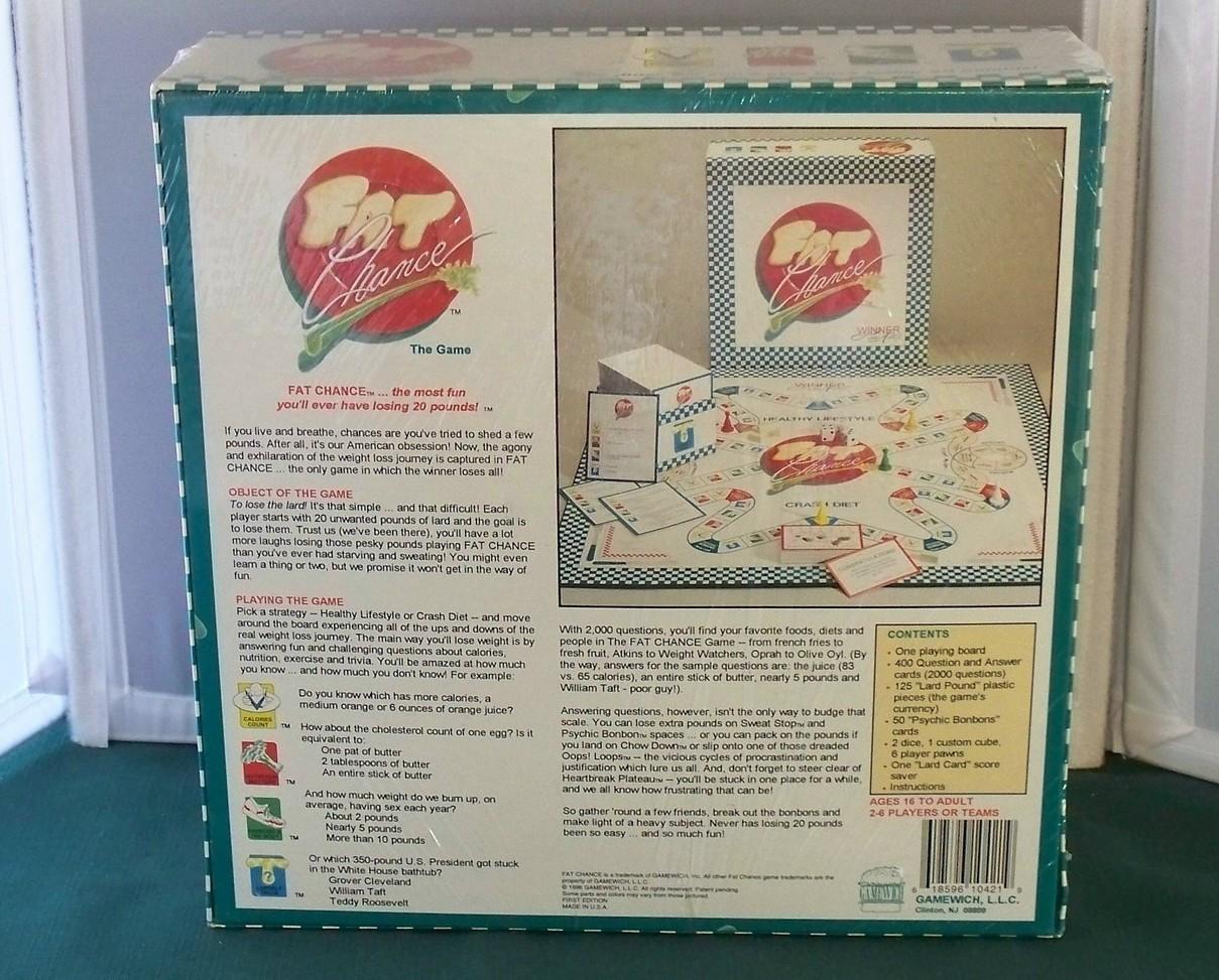 Fat Chance Food & Fitness Game Gamewich 1996 NIB Sealed