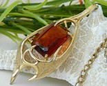 Vintage sarah coventry topaz molten pendant book piece 1965 thumb155 crop