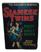 The Hilton Sisters Siamese Twins Sign 8 X 12 Inches New Aluminum Freak Show - $20.00