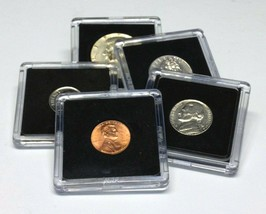 25 Assorted Coin Snap Holders 5 Different Sizes By Bcw Free Shipping - $27.50