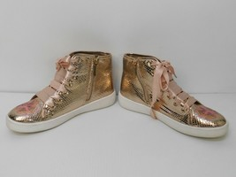 Michael Kors Women's Sneakers shoes Ivy Florine Rose Gold Floral Size 5  - $34.64
