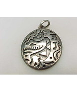 Vintage STERLING  Silver KOKOPELLI PENDANT - 1 1/2 inches-signed - FREE ... - $42.00