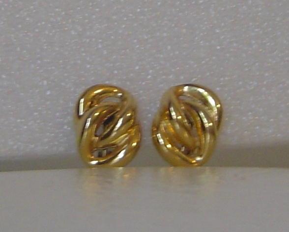 Napier Gold Clip Screw On Earrings Vintage Knot Ear Rings