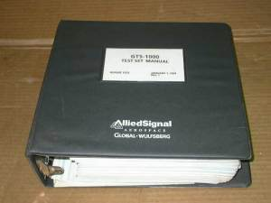 Primary image for Allied Signal Wulfsberg GTS-1000 Test Set Manual GNS-X