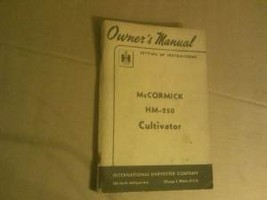 IH Mccormick HM-250 Cultivator Operators Manual - $24.95