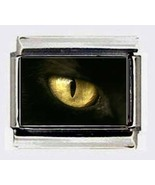 black CAT'S EYE CUSTOM 9mm ITALIAN PHOTO CHARMS - $5.95