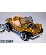 KEY CHAIN DUNE BUGGY VW BUG COX GOLD PORTE CLE DORE FASHION - $24.98