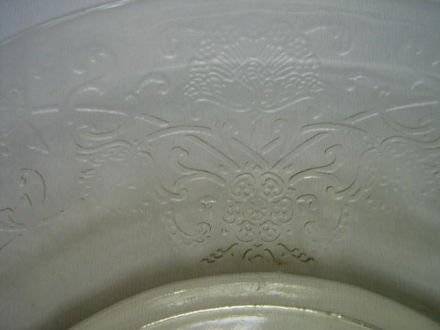 Depression Glass Florentine No. 2 Yellow Sherbet Plate-1930s