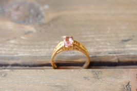 Vintage 90s 18k HGE Purple Crystal Ring Size 5 - $14.84