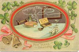 New Years Greetings Vintage 1910 Post Card - $5.00