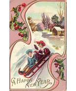 A Happy  New Year Vintage Post Card - $6.00