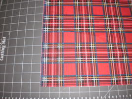 1994 Daisy Kingdom Patricia Plaid fabric 1 Yard OOP  - $17.95