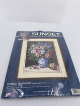 Sunset Dimensions Floral Elegance Stamped Cross Stitch Kit #13136 Jack Terry - $15.88