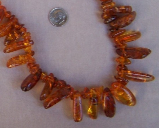Necklace  Amber  31 in  New