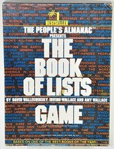 The Book of Lists Game Avalon Hill  - $10.39