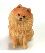POMERANIAN RED DOG Figurine Statue Hand Painted Resin Living Stone 3 INCH - $12.95