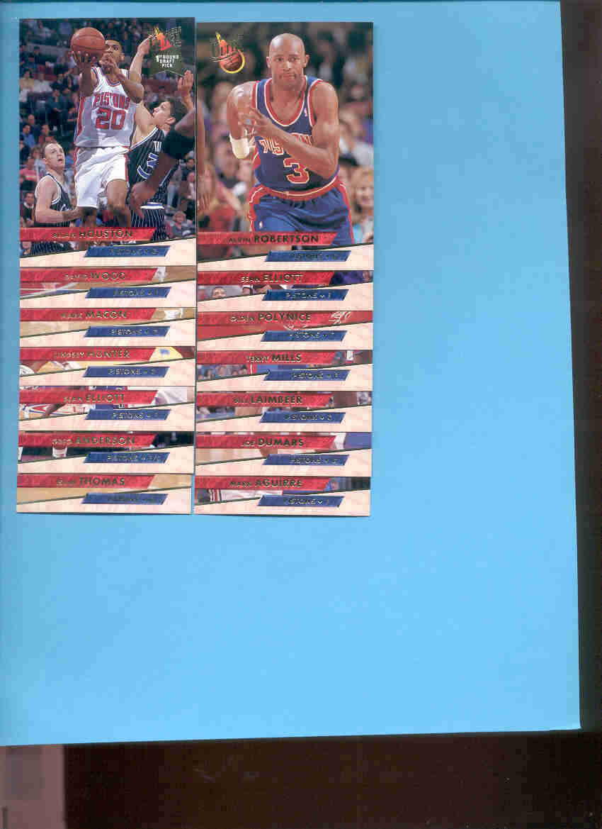 1993/94 Fleer Ultra Detroit Pistons Basketball Team Set
