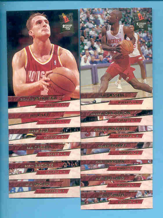 1993/94 Fleer Ultra Houston Rockets Basketball Team Set