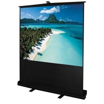 "80"" Diagonal 4:3 Portable Pull up Floor Projector Screen Display Alumini... - $89.99"