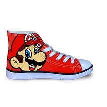 Super Mario Cartoon Kid's High Top Vulcanized Canvas Shoes Sneakers - $49.99