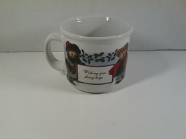 Boyds Bears Coffee Cup Mug Christmas Fuzzy Hugs Special Times Holiday Wishes - $6.99