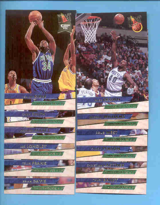 1993/94 Fleer Ultra Minnesota Timberwolves Basketball Team S