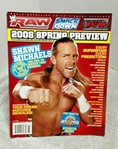 WWE 2008 Special Spring Preview Magazine Includes Shawn Michaels Poster ... - $16.82