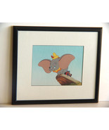 Vintage Print -Dumbo The Baby Elephant- Disney Framed and Matted - $14.99