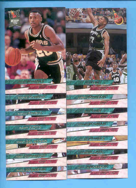 1993/94 Fleer Ultra San Antonio Spurs Basketball Team Set