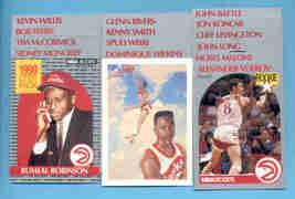1990/91 Hoops Atlanta Hawks Basketball Team Set  - $2.99