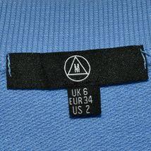 Missguided Women's Blue Purple Peach Colorblock Crop Sweatshirt Size US 2 image 3