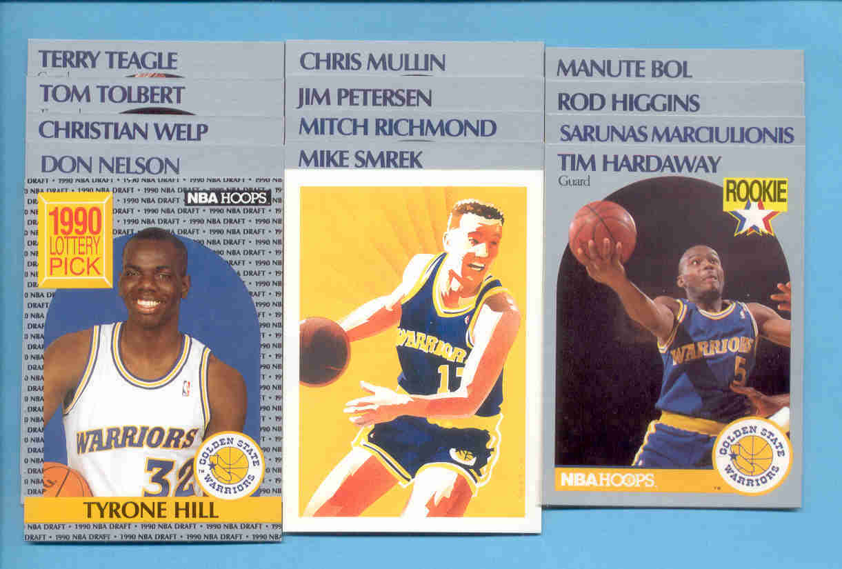 1990/91 Hoops Golden State Warriors Basketball Team Set