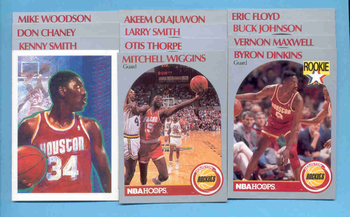 1990/91 Hoops Houston Rockets Basketball Team Set