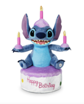 Disney Parks Stitch Birthday 11 inch Light Up Plush Doll NEW - $49.90