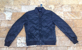 $495 Polo Ralph Lauren Quilted Moto Bomber Jacket, Dark Blue, Size L - $296.99