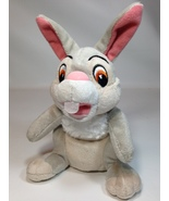 Disney Thumper Bunny Rabbit Plush Beanie Bean Bag Grey Stuffed Toy Anima... - $18.95