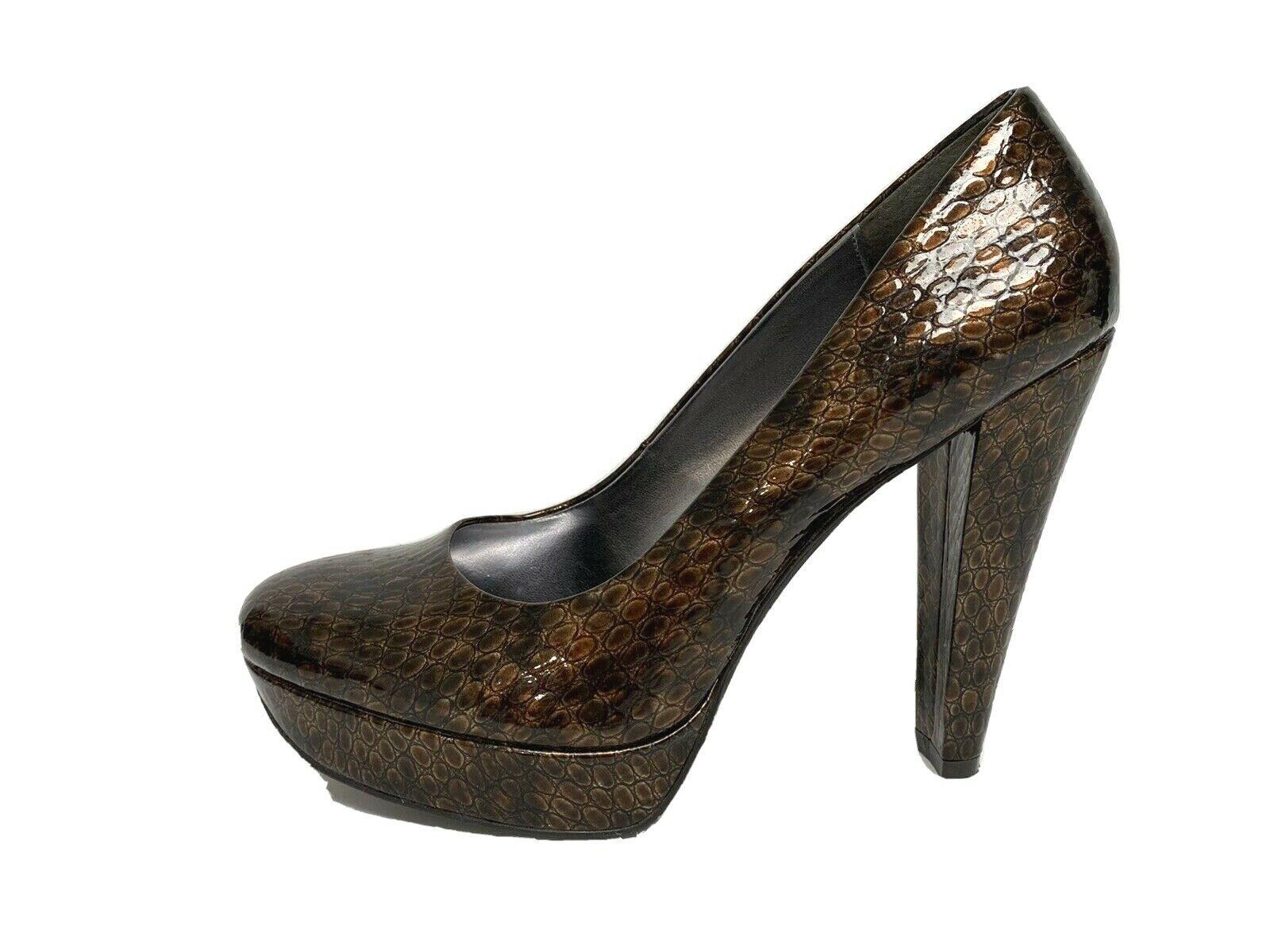Calvin Klein Carley women's heel platform shoes animal print size 8M - $24.30